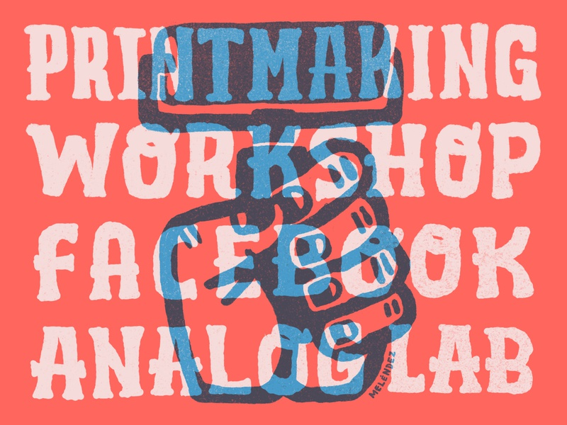 Printmaking Workshop analoglab analog facebook seattle illustration design handdrawn typography handlettering type