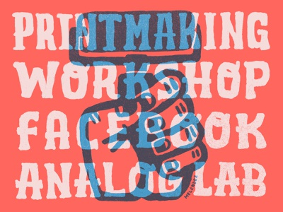 Printmaking Workshop analoglab analog facebook seattle illustration design handdrawn typography handlettering type