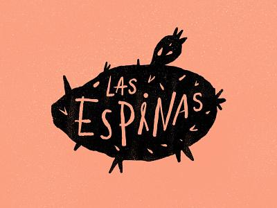 Las Espinas cactus nopal tacos design typography logo handlettering type
