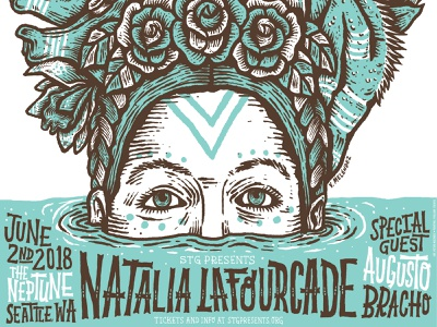 Natalia Lafourcade handlettering design type poster illustration handdrawn seattle typography lettering