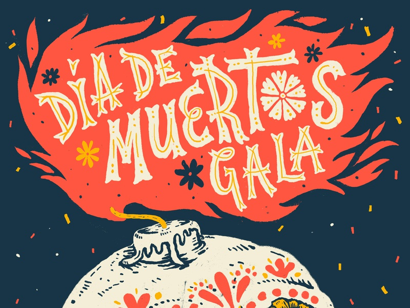 Día de Muertos seattle design poster handdrawn type typography lettering handlettering illustration