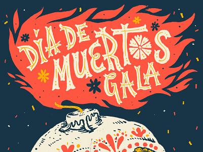 Día de Muertos seattle design poster handdrawn type typography lettering handlettering illustration