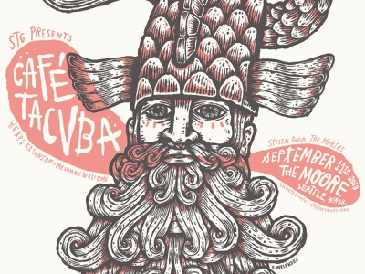 Café Tacvba cafe tacvba poster handdrawn mexico design seattle typography lettering illustration type handlettering