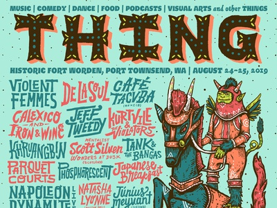 THING northwest poster design handdrawn logo seattle lettering typography illustration handlettering type