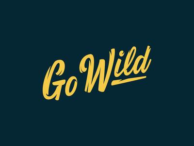 Go Wild Lettering