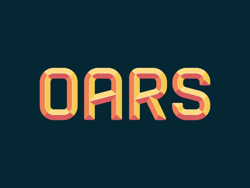 OARS type exploration 3d branding logo type
