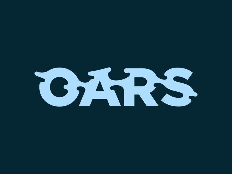 OARS type exploration 2 liquid branding logo type typography