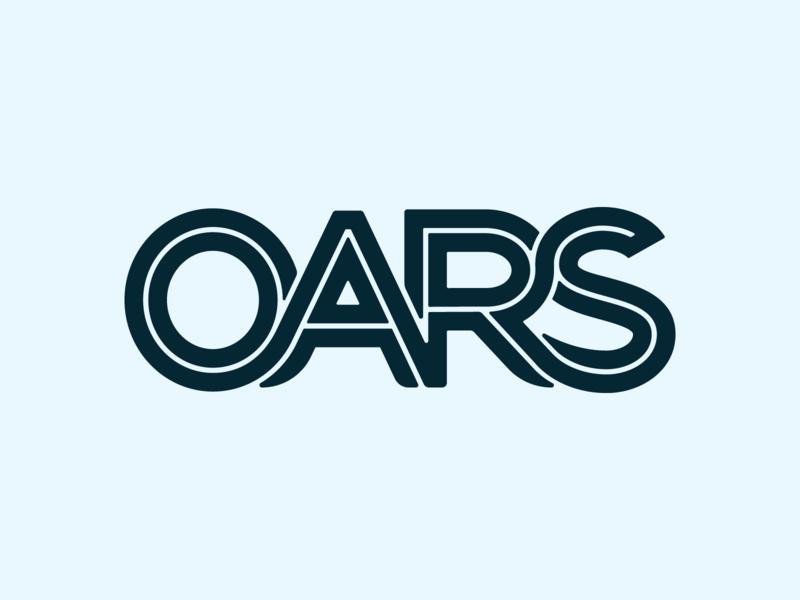 OARS type exploration 3 logo branding design vector type typography lettering
