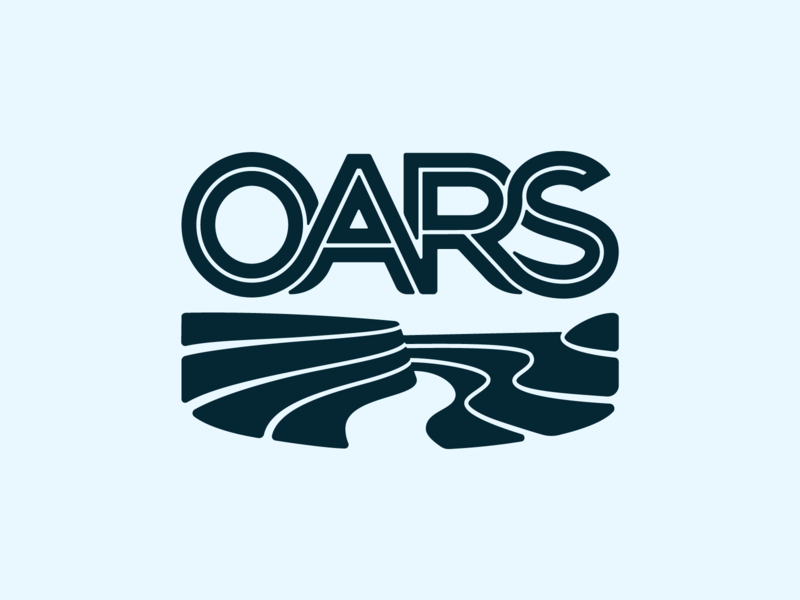 OARS logo concept river canyon branding illustrator vector type logo