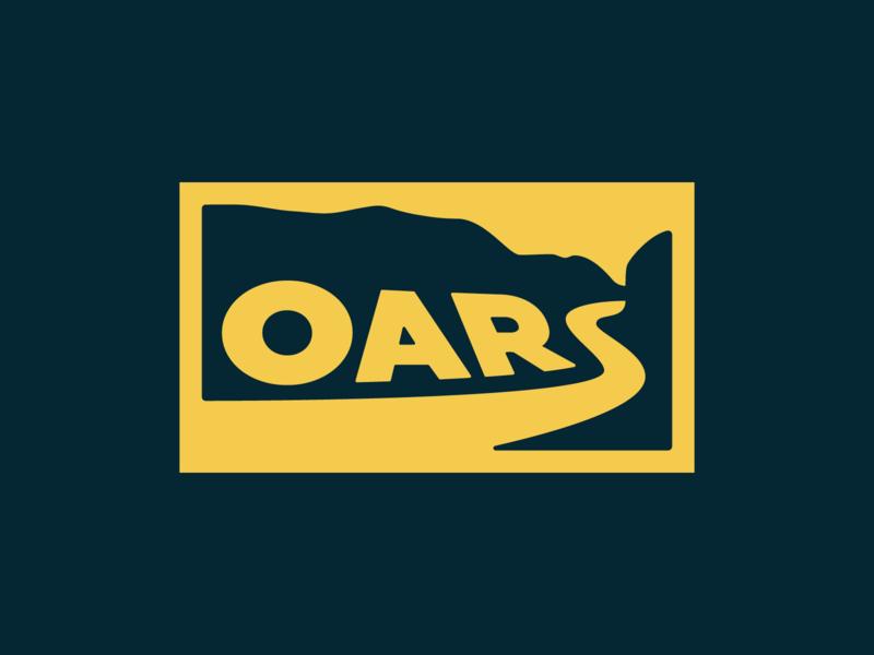 OARS logo concept 2 illustrator canyon river branding logo vector type