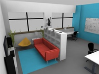 300sq ft Office Space Design