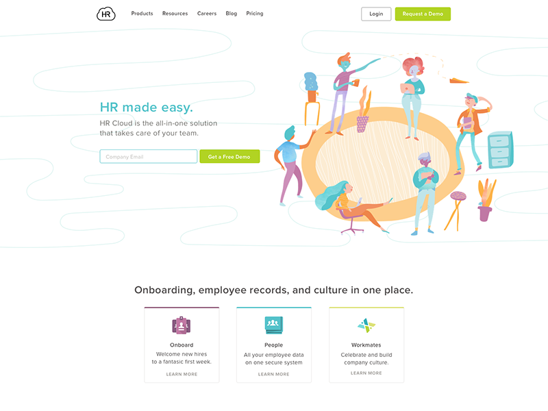 Hr cloud home page by mark su dribbble hrcloud home 800 ccuart Choice Image
