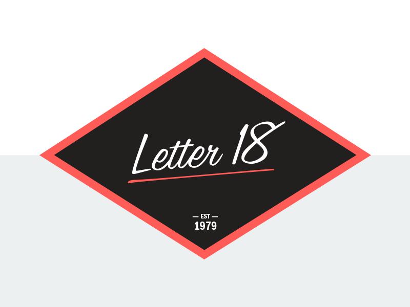 New Self Identity Letter 18 self identity id branding design letter 18 letter 18 studio