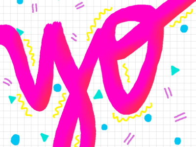 Yo type design 80s lettering handdrawn