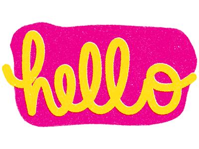 Hello type lettering cursive design texture hello