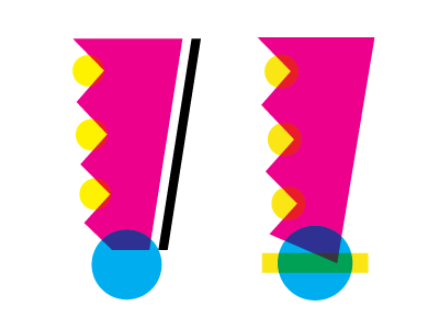 !!!! doodle bright bold mixcolors omg exclamation cmyk type
