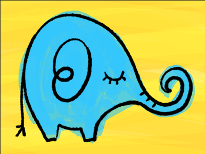 Elephant kids preschool animal zoo cartoon illustration elephant