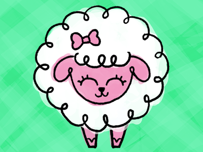 Sheep cute doodle design animals character cartoon illustration sheep