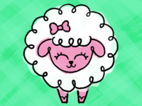 Sheep cute doodle design animals character cartoon illustration sheep
