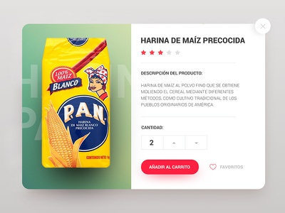 UI card for Venezuelan product uxdesign graphicdesigner uidesign behance dribbble website userinterface ux ui webdesign
