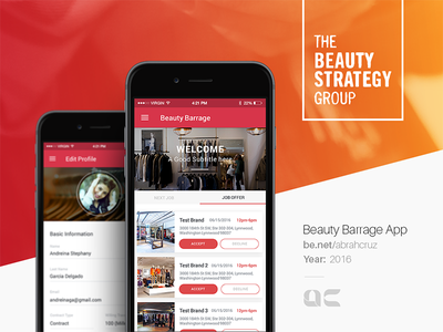 Beauty Barrage App in progress beauty android ios app website webdesigner uxdesign ux userinterface uidesign ui
