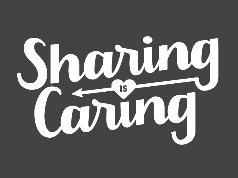 sharing is caring by lindsay rife on dribbble