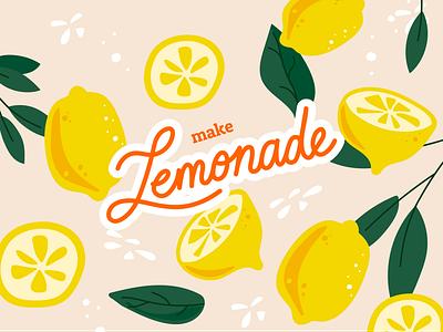 When life gives you lemons... vector lettering lemons illustrator illustration