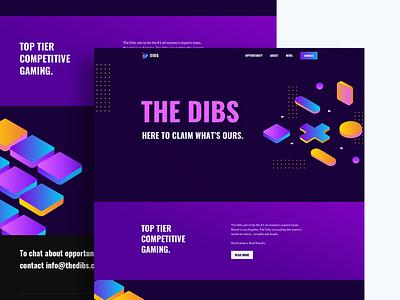Dibs Homepage ui web design web dailyui esports gaming illustration branding ux