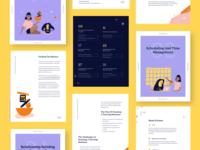 Running a Tutoring Business E-Book graphic design startup education layout design handbook editorial ebook illustration design