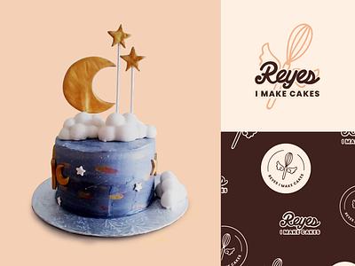 Reyes I Make Cakes Bakery Branding typogaphy rebrand logo brand mark brand identity identity design bakery cake food exploration brand illustration branding