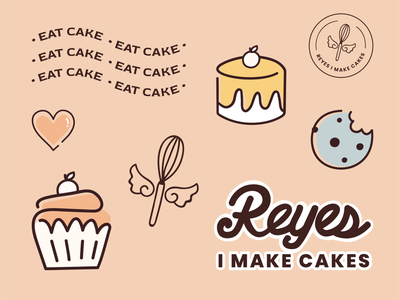 Bakery Brand Illustrations spot illustration simple scenes stickers badge graphic icon logo flat vector hand drawn illustration branding