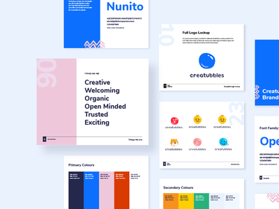 Creatubbles Brand Guidelines brand guidelines style guide illustration design typography logo branding