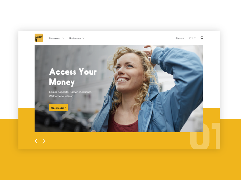 Interac Website Redesign branding web ux ui