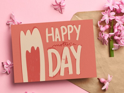 Happy Mother's Day Card greeding card card pink lettering procreate illustration
