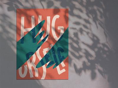 Hug Urself design poster lettering procreate illustration
