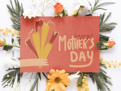 Happy Mother's Day mothersday greetingcard lettering procreate illustration