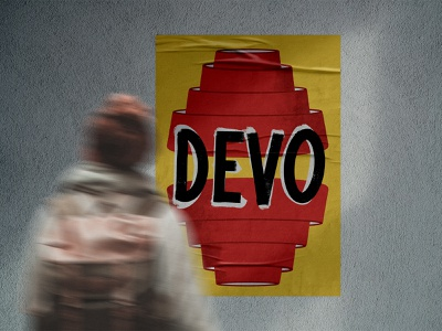 DEVO design poster lettering procreate illustration