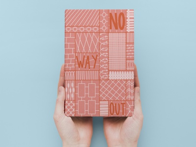No way out monochrome pink book cover design book cover design lettering procreate illustration