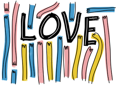 Is all around me love handlettering type typography poster design lettering procreate illustration