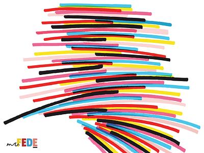 Colors poster design illustration