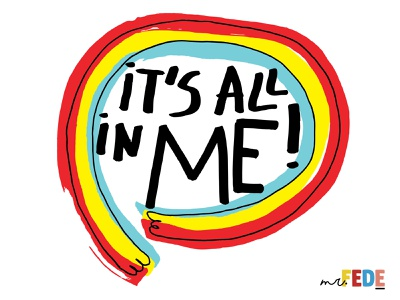 It´s all in me! book cover book branding typography handlettering design lettering illustration