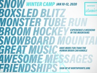 opposite side of Winter Camp card