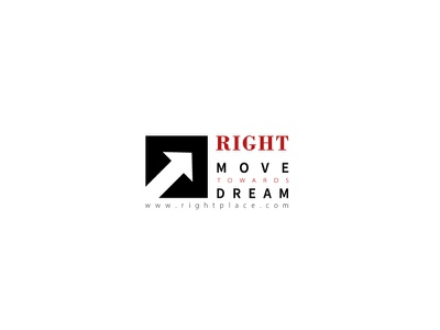AGENCY LOGO agency logo future goal decision move dream right agency modern design 2021 design branding minimal illustrator graphic design