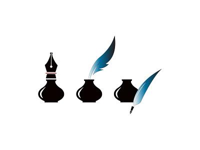Ink Design stationery unique logo design pen and ink publication design ink modern design 2021 design minimal illustrator graphic design