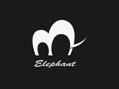 Minimal Elephant Design illustrator design branding 2021 design illustration modern design logo icon minimal graphic design