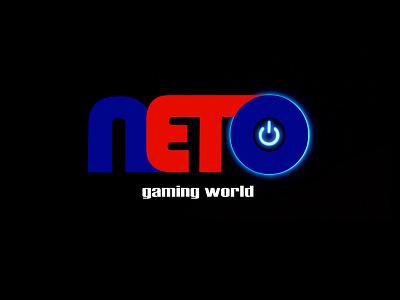 NETO GAMING WORLD concept typography gaming illustration design illustrator 2021 design modern design logo icon branding minimal graphic design