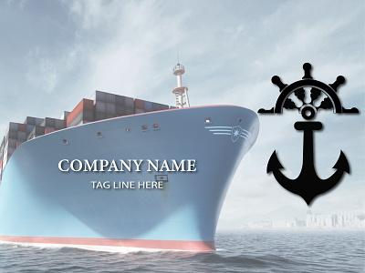 minimal ship company logo icon minimal logo illustration design navy navigation ship company transports shipyard ship branding modern design 2021 design illustrator graphic design