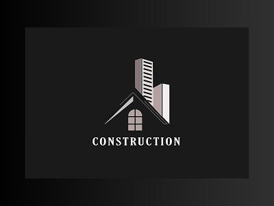 minimal unique construction design real estate builders construction logo minimal design icon branding modern design illustrator 2021 design graphic design