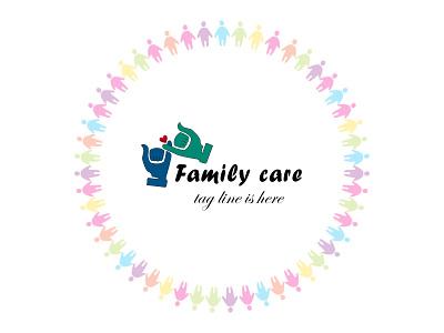 typography and minimal unique family design unique familycare family typography logo illustration design icon branding minimal modern design 2021 design illustrator graphic design