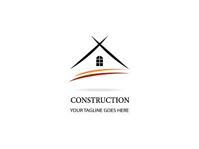 Construction or Real Estate minimal logo building real estate construction logo illustration icon design branding minimal modern design 2021 design illustrator graphic design